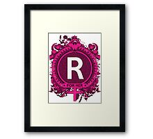 FOR HER - R Framed Print