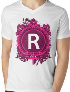 FOR HER - R Mens V-Neck T-Shirt
