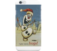 Olaf from Disney Frozen Gives Warm Christmas Hugs iPhone Case/Skin