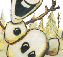 Olaf from Disney Frozen Gives Warm Christmas Hugs Sticker