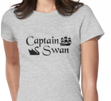 Captain Swan Icons Typography 2 Womens Fitted T-Shirt