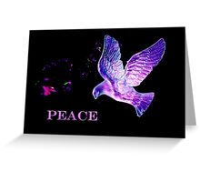 Christmas dove of peace Greeting Card