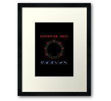 Destination Earth chevron symbols Framed Print