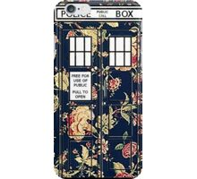 Floral TARDIS iPhone Case/Skin