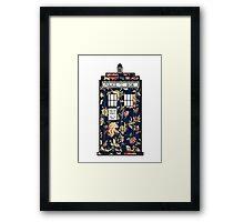 Floral TARDIS Framed Print