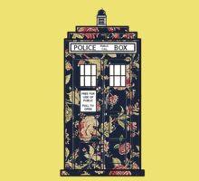 Floral TARDIS Kids Tee