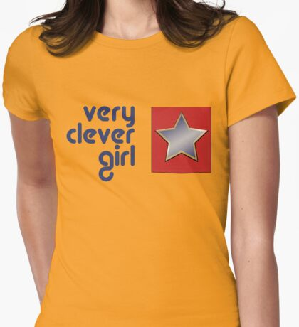 Very Clever Girl Womens Fitted T-Shirt