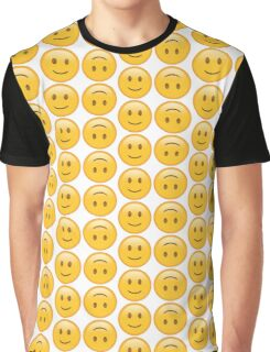 Smile Emoji and Upside Down Emoji Graphic T-Shirt