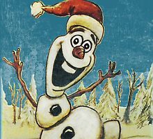 Christmas Olaf from Disney Frozen by wimpy