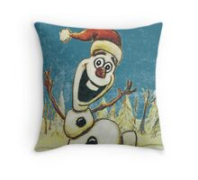 Christmas Olaf from Disney Frozen Throw Pillow