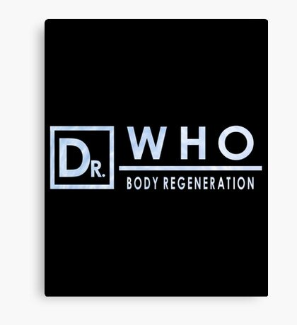 Dr Who - Body Regeneration Canvas Print