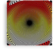 Twirl Gradient - White | Yellow | Red | Black Canvas Print