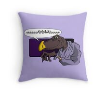 QUIET YOU WHIMPERING WORM! Throw Pillow
