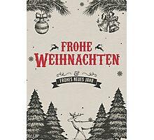 Frohe Weihnachten Photographic Print