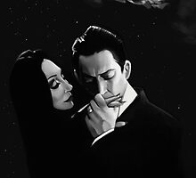Gomez and Morticia Addams by Brad Collins