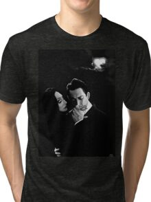 Gomez and Morticia Addams Tri-blend T-Shirt
