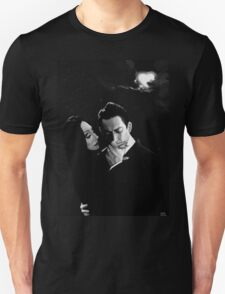 Gomez and Morticia Addams T-Shirt