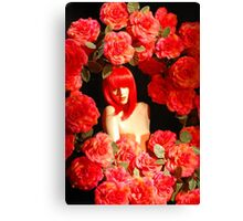 Red doll living in a movie Canvas Print