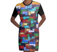 Port Dahlia Geometry  Graphic T-Shirt Dress
