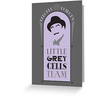 Poirot's Little Grey Cells Team Greeting Card