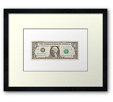 American One Dollar Bill Framed Print