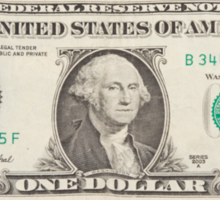 American One Dollar Bill Sticker