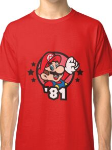 Video Game Heroes - Mario (1981) Classic T-Shirt