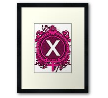 FOR HER - X Framed Print