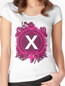 FOR HER - X Women's Fitted Scoop T-Shirt