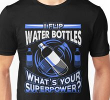 Water Bottle Flip Challenge School Trend Superpower Shirt Unisex T-Shirt