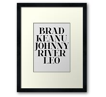 The 90's Boyfriend Framed Print