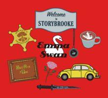 Emma Swan Comic Icons Kids Tee
