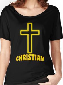 Jesus Christ Son of God Lord Christian Women's Relaxed Fit T-Shirt