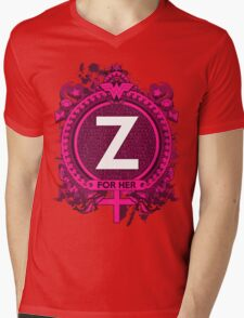 FOR HER - Z Mens V-Neck T-Shirt