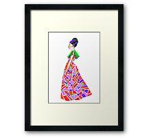Dazzle in a dress-dahlia Framed Print