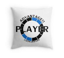 Player! Advantage! Throw Pillow