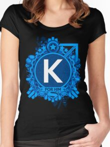 FOR HIM - K Women's Fitted Scoop T-Shirt
