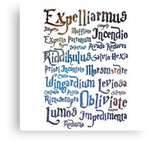 harry potter magic spell  Canvas Print