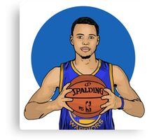 Stephen Curry - Golden State Warriors Canvas Print