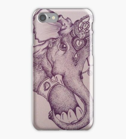 Elephant stippling iPhone Case/Skin