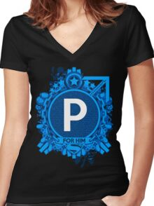FOR HIM - P Women's Fitted V-Neck T-Shirt