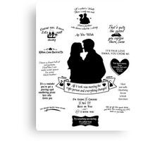 "Captain Swan ""Iconic Quotes"" Silhouette Design 2 Canvas Print"