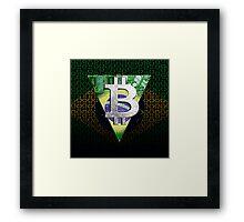 bitcoin Brazil Framed Print