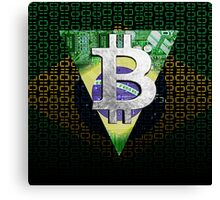 bitcoin Brazil Canvas Print