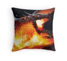 Volcanic Dragon Throw Pillow