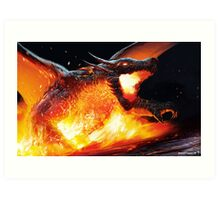 Volcanic Dragon Art Print
