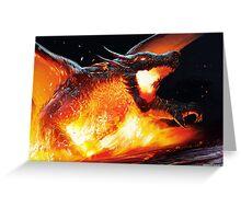 Volcanic Dragon Greeting Card