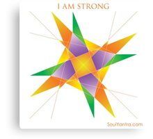 I AM STRONG - YANTRA Canvas Print