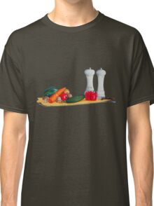 quirky still life realist art peppers and vegetables  Classic T-Shirt