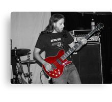 The Red Guitar Canvas Print